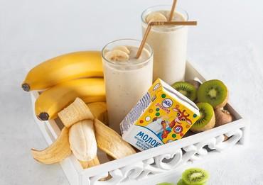 Смузи с бананом и киви