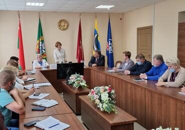 Екатерина Зенкевич на встрече с трудовым коллективом ОАО «Рогачевский МКК»