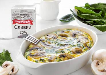 Омлет с сыром и грибами